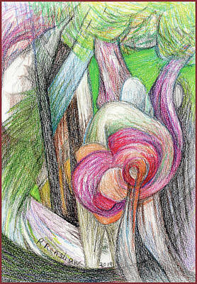 Drawing - Enchanted Forest by Ruth Renshaw