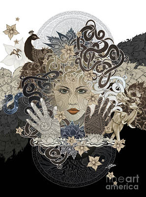 Mixed Media - Enchantress by Julie Oakes
