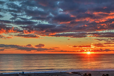 Photograph - End Of Day Light Show by Gene Parks