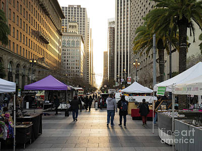 Photograph - End Of Market Street At San Francisco Embarcadero Looking Towards The Setting Sun Dsc6892 by Wingsdomain Art and Photography