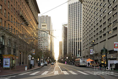 Photograph - End Of Market Street At San Francisco Embarcadero Looking Towards The Setting Sun Dsc6893 by Wingsdomain Art and Photography