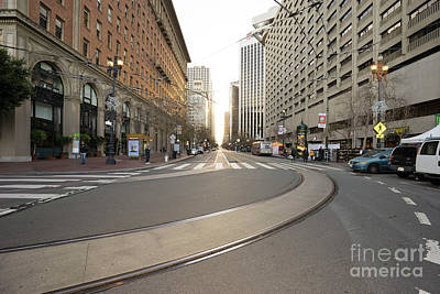 Photograph - End Of Market Street At San Francisco Embarcadero Looking Towards The Setting Sun Dsc6895 by Wingsdomain Art and Photography