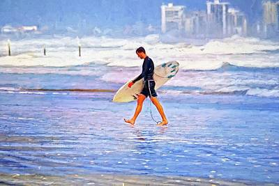 Photograph - End Of Surfer Day by Alice Gipson