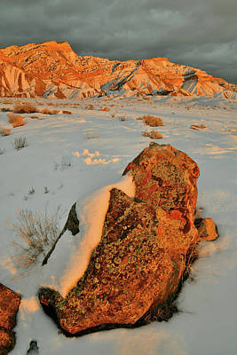 Photograph - End Of The Day At Snow Covered Book Cliffs by Ray Mathis