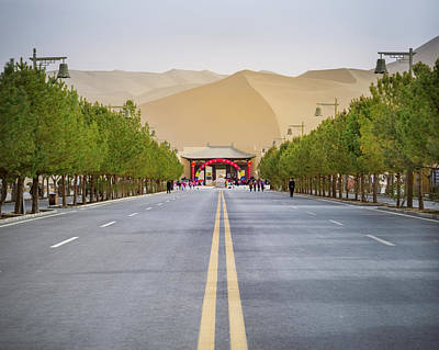 Photograph - End Of The Road Gobi Desert Dunhuang Gansu China by Adam Rainoff