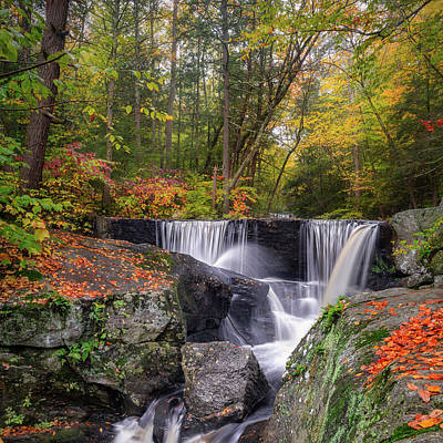 Photograph - Enders Falls Autumn 2018 Square by Bill Wakeley