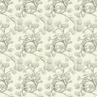 From Wall Art - Drawing - Endpapers by Eric Fan
