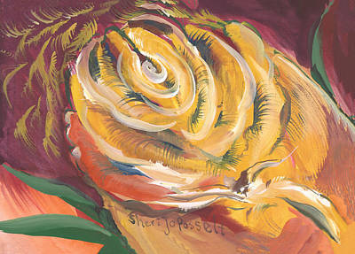 Painting - Energy Bloom by Sheri Jo Posselt