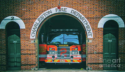 Photograph - Engine 2 - Charleston Fire Dept by Dale Powell