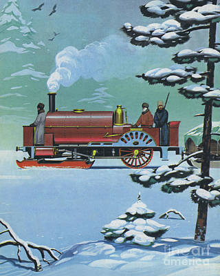 Painting - Engine Called Rurik Made In Glasgow In 1862 by Angus McBride