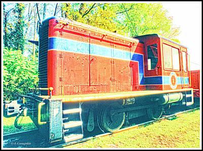 Photograph - Engine, Catskill Mountain Railroad, New York State by A Gurmankin