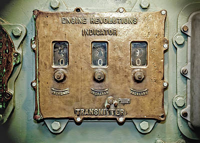 Photograph - Engine Revolutions Indicator by Don Johnston