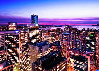 English Bay Romantic Twilight Vancouver British Columbia Canada Original