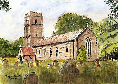 Painting - English Chapel by Barry Jones
