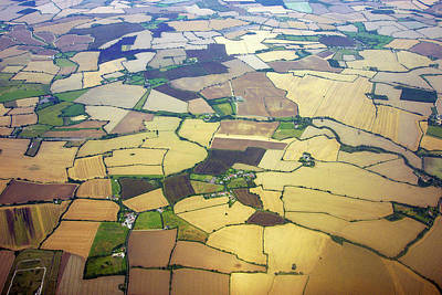 English Countryside Aerial View Art Print by Rosmarie Wirz