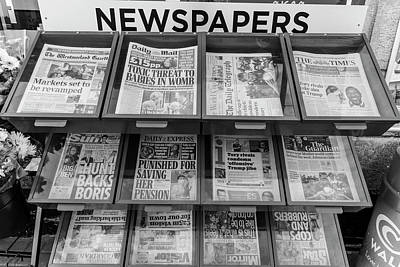 Photograph - English Newsstand  by John McGraw