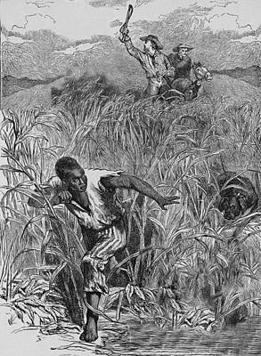 Engraving Of Slave Escape, Mid-19th Art Print by Kean Collection