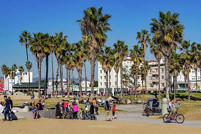 Wall Art - Photograph - Enjoyable Day On Venice Beach by Roslyn Wilkins