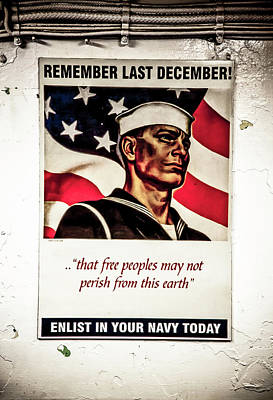 Photograph - Enlist In Your Navy Today Art  by Don Johnston