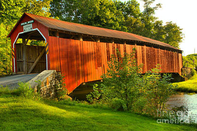 Photograph - Enslow Covered Bridge by Adam Jewell
