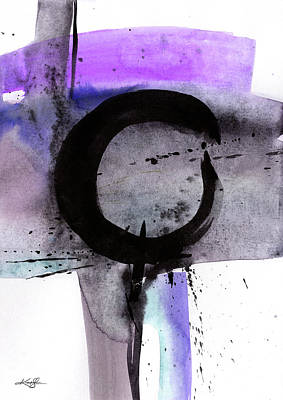 Bath Time Rights Managed Images -  Enso Abstraction 109C Royalty-Free Image by Kathy Morton Stanion