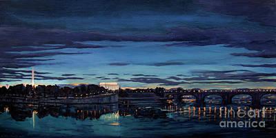 Painting - Entering Dc At Nightfall by Christopher Buoscio