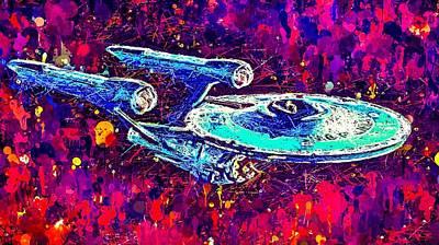 Mixed Media - Star Trek Enterprise by Al Matra