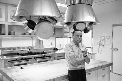 Photograph - Entertainer Frank Sinatra Eating A by John Dominis