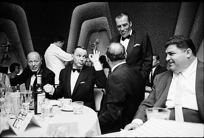 Photograph - Entertainer Frank Sinatra Giving The Ok by John Dominis