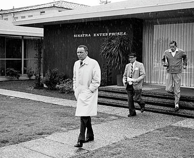 Photograph - Entertainer Frank Sinatra L Leaving His by John Dominis