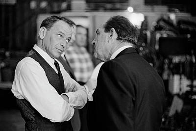 Photograph - Entertainer Frank Sinatra Talking W by John Dominis