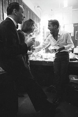 Photograph - Entertainers Frank Sinatra L And Sammy by John Dominis
