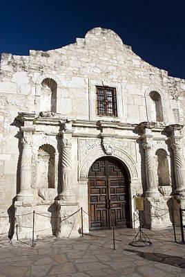 The Alamo Wall Art - Photograph - Entrance, Alamo, San Antonio, Texas by Dennis K. Johnson