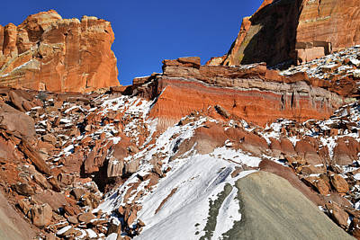 Photograph - Entrance To Cohab Canyon In Capitol Reef by Ray Mathis