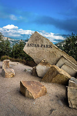 Photograph - Entrance To Estes Park by James L Bartlett