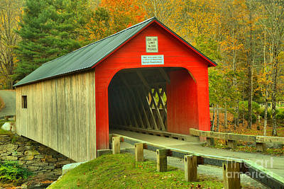 Photograph - Entrance To The Green River Covered Bridge by Adam Jewell