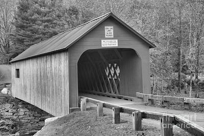 Photograph - Entrance To The Green River Covered Bridge Black And White by Adam Jewell