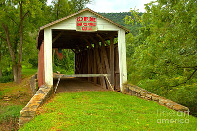 Photograph - Entrance To The Red Coverd Bridge by Adam Jewell