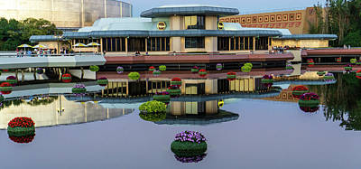Photograph - Epcot Lake Flowers by Jason Fink