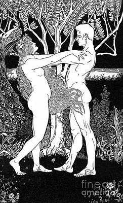 Drawing - Ephraim Moses Lilien Illustration Of The Song Of Yehuda by Ephraim Moses Lilien