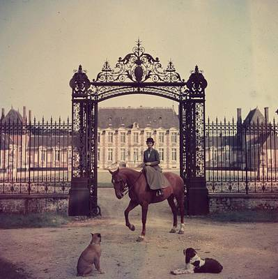 Photograph - Equestrian Entrance by Slim Aarons
