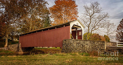 Photograph - Erb's Covered Bridge II by Debra Fedchin