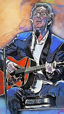 Eric Clapton - 15 Art Print by Andrea Mazzocchetti