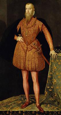 Painting - Erik Xiv, 1533-1577, King Of Sweden by Steven van der Meulen