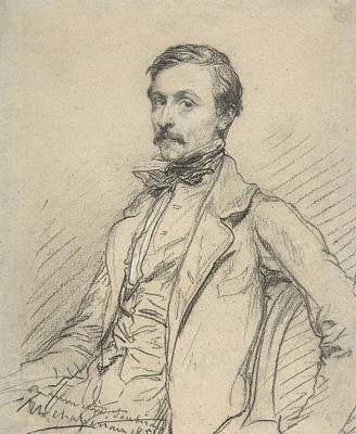 Drawing - Ernest Chasseriau by Theodore Chasseriau