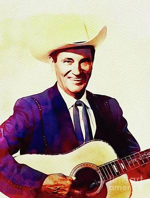 Music Paintings - Ernest Tubb, Country Music Legend by Esoterica Art Agency