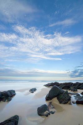 Photograph - Eroded Black Rocks On Beach, Australia by Eastcott Momatiuk