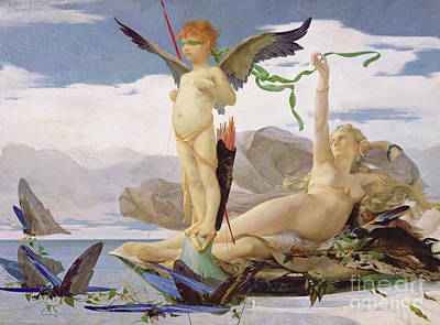 Painting - Eros And Aphrodite by Edouard Toudouze