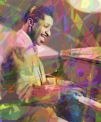 Jazz Painting Royalty Free Images - Erroll Garner Misty Royalty-Free Image by David Lloyd Glover