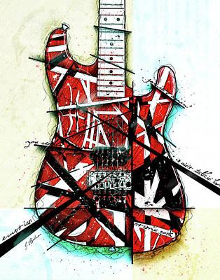 Van Halen Wall Art - Digital Art - Eruption by Gary Bodnar